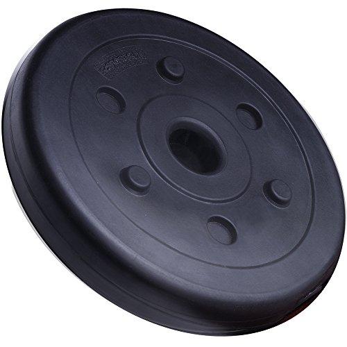 ScSPORTS 20 kg Langhantel-Set Kunststoff Hantelscheiben 2 x 1,25 kg + 2 x 2,5 kg + 2 x 5 kg - 4