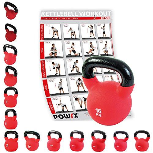 Powrx Kettlebell Kugelhantel Neopren 4 - 30 (16 kg)