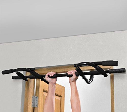 [pro.tec] Klimmzugstange Multigriff Türrahmen Reckstange Fitness bis 150kg Türreck Softgrip rutschfest Workout - 5