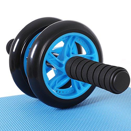 Songmics Bauchtrainer Roller AB Wheel mit Knie Pad Blau SPU75P